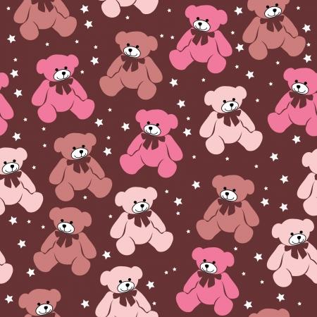 osos de peluche: Modelo incons�til de los osos de peluche, elementos para el �lbum de recortes, tarjetas de felicitaci�n de San Valent�n Vectores