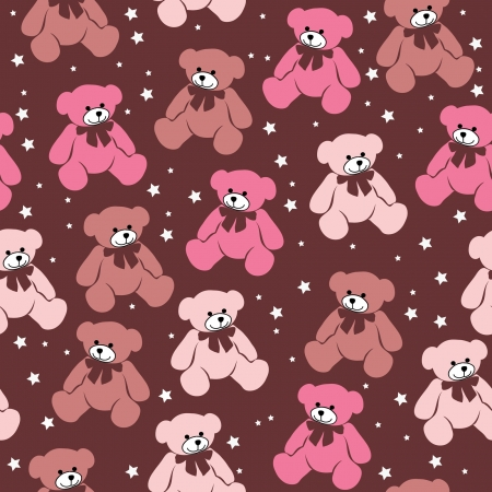 Seamless pattern Teddy bears, elements for scrapbook, greeting cards, Valentine