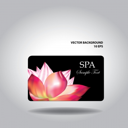 Business card  with flower, illustration Vector