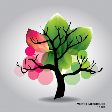 Beautiful tree with flowers Stock Vector - 15929360