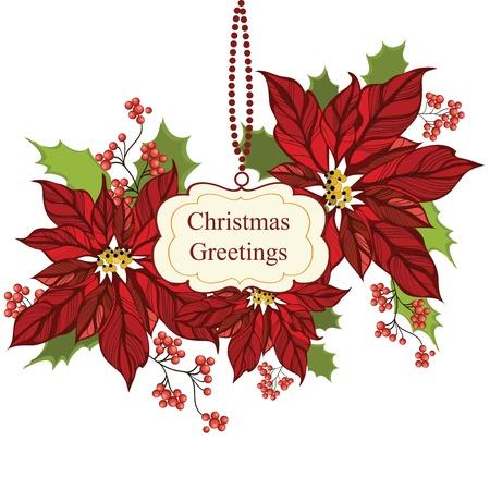Christmas greeting card Stock Vector - 16212161