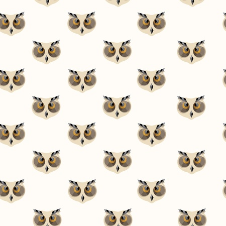 wise old owl: Seamless owl pattern Illustration
