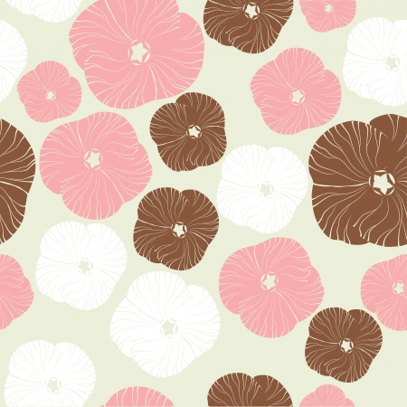 old paper texture: Floral pattern. Seamless background