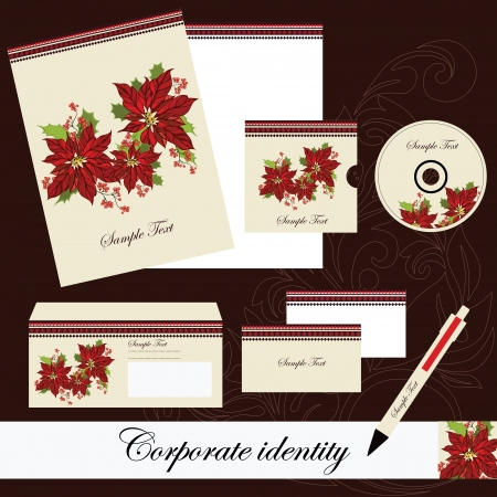 Christmas  corporate set Vector