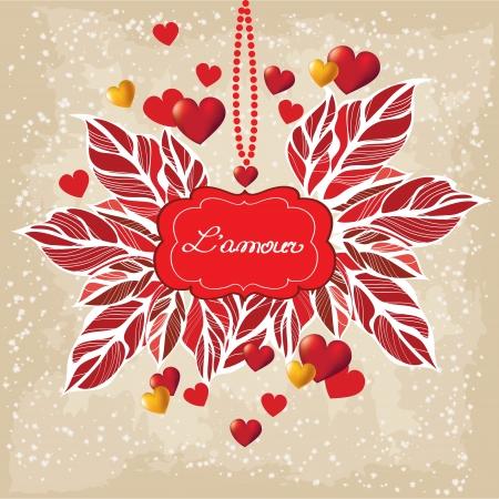 Romantic  background Stock Vector - 17087123