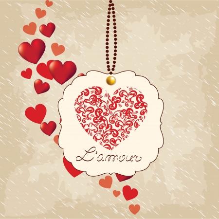 Romantic  background, Valentine's Day Stock Vector - 17087080
