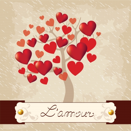 Valentines Day, love tree Vector