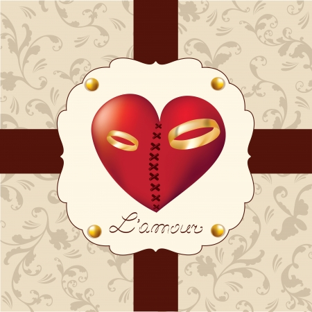 Valentine's Day, sweet heart Vector