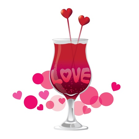 Valentine's Day,  Love cocktail Stock Vector - 17087157