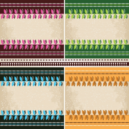 4  patterns set Stock Vector - 17172398