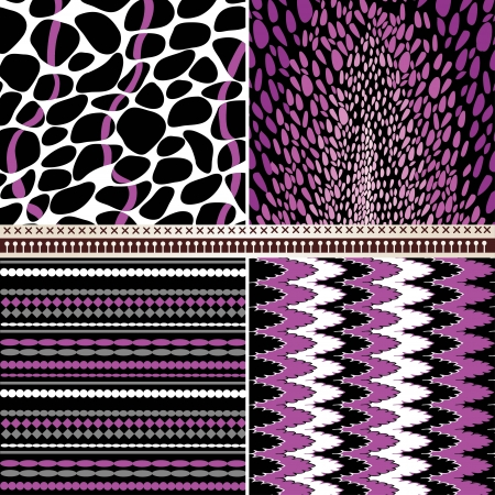 digital print: 4 geometric patterns set