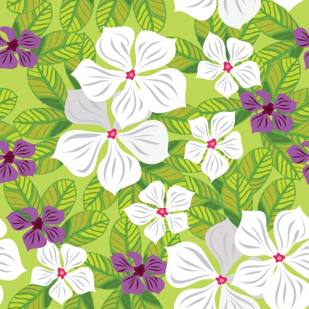 textile image: Floral seamless pattern with white flowers, hand-drawing illustration  Illustration