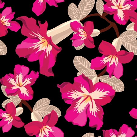 Beautiful seamless floral pattern Stock Vector - 17691611