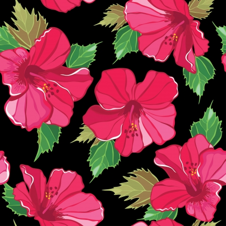 Seamless floral pattern , hand-drawing. illustration. Vector