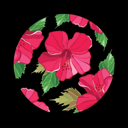 Floral pattern with hibiscus Stock Vector - 18528094