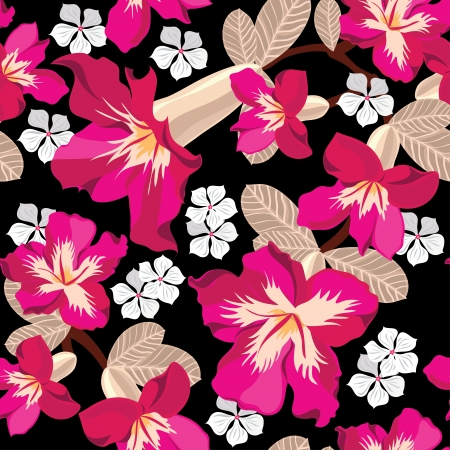 hibiscus background: Floral seamless pattern   illustration.