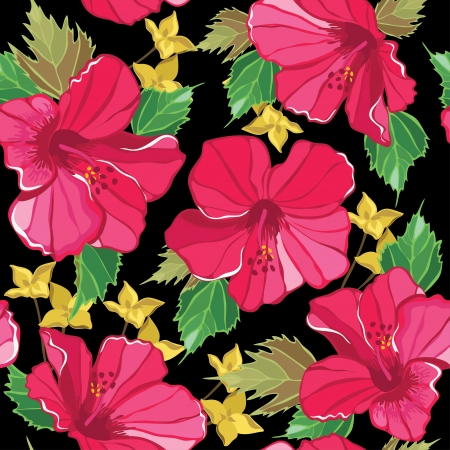 floral print: Floral seamless pattern with beautiful flowers illustration. Illustration