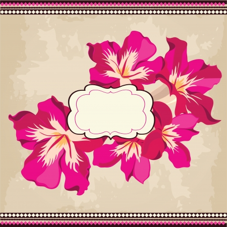 Beautiful floral pattern.Spring background Vector