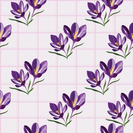 early spring: Seamless pattern  for design with spring flowers