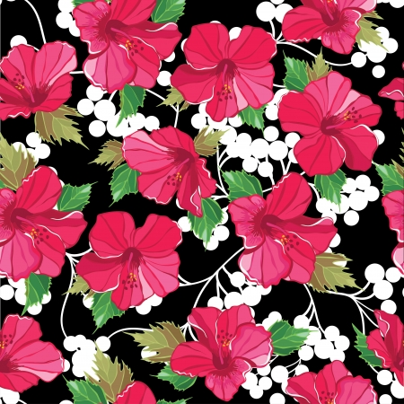 Seamless floral pattern   illustration  Vector