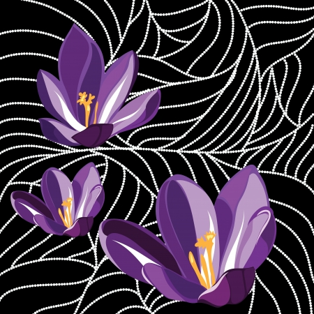 painting style: Wallpaper with elegance flowers  illustration