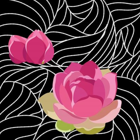 Wallpaper with elegance flowers illustration