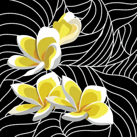 paintings: Wallpaper with elegance flowers, illustration