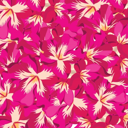 Floral pattern with hibiscus  illustration. Stock Vector - 18528107