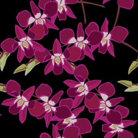 Floral nahtlose Muster mit Orchideen, illustration.