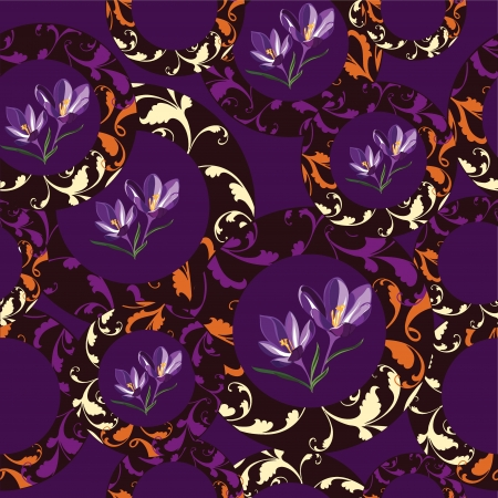Floral seamless pattern  illustration. Vector