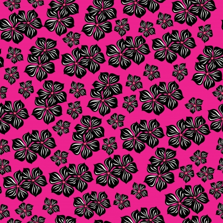 hibiscus background: Seamless pattern  for design with spring flowers