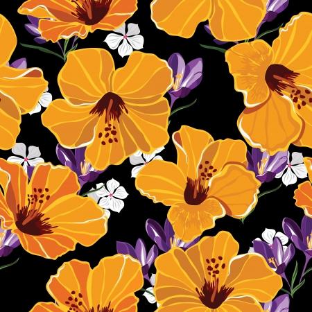 aloha: Floral nahtlose Muster mit sch?nen Blumen, Hand-Zeichnung. Vektor-Illustration.