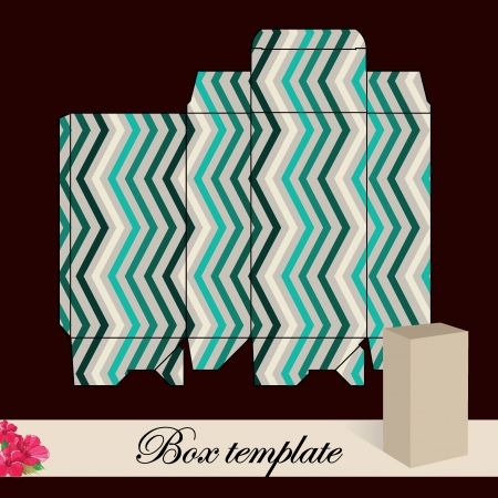 Gift box template Print  Cut along solid outer border with scissors Fold back on dashed lines to form your favor box  Use adhesive to secure side and bottom flap  Illustration