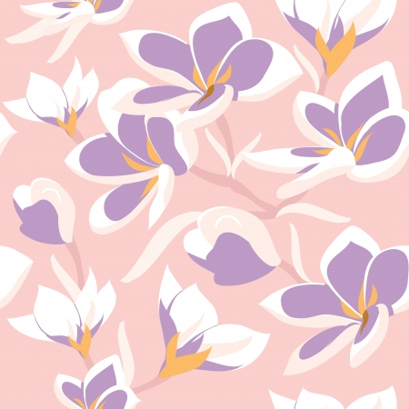 soulful: Floral seamless pattern with beautiful flowers, hand-drawing  Vector illustration