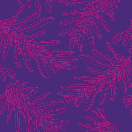 Palm trees seamless pattern background with hand drawn elements  Vector