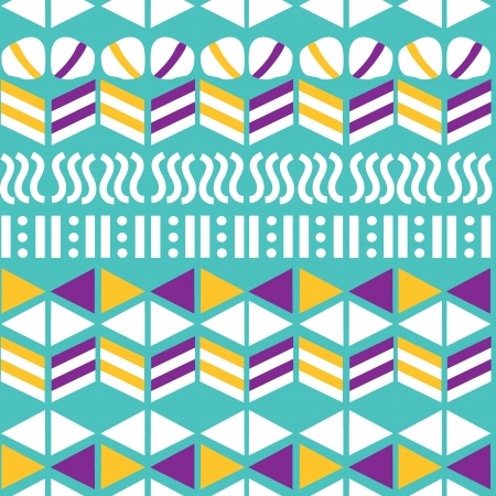 Geometric seamless pattern, hand-drawing  Vector illustration