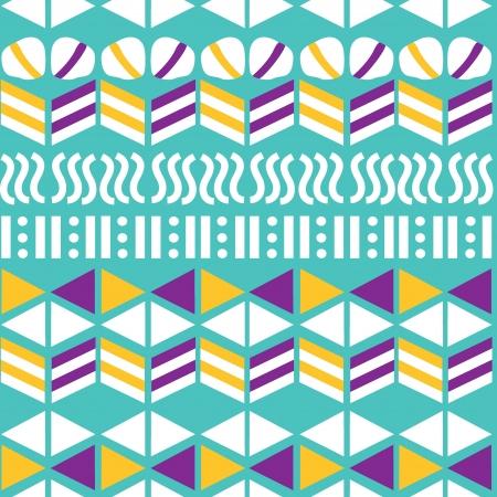 Geometric seamless pattern, hand-drawing  Vector illustration Imagens - 19784465