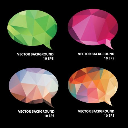 Set of speech bubble.Vector illustration. Vector