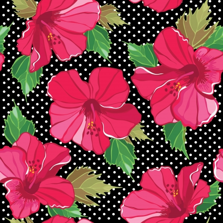 Seamless floral pattern, hand-drawing. Vector illustration. Vector