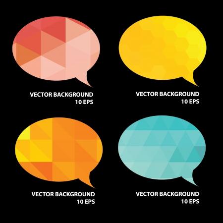 Set of speech bubble.Vector illustration.