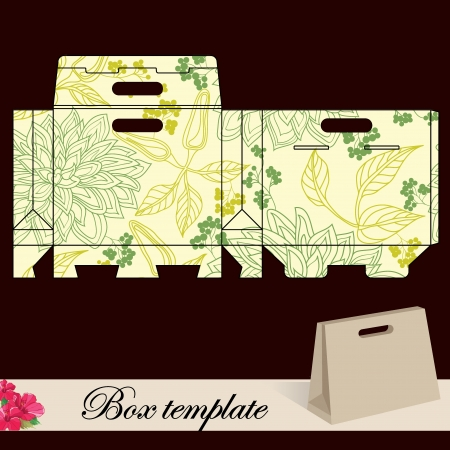 wedding favor: Gift box template Print  Cut along solid outer border with scissors Fold back on dashed lines to form your favor box  Use adhesive to secure side and bottom flap  Illustration