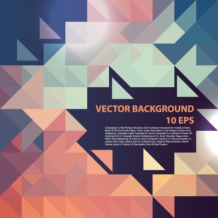 cubism: Geometric colorful pattern.Vector background.
