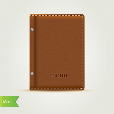 sheet menu: Cooking book isolated.Vector illustration.