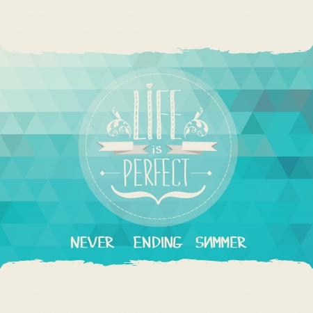 summer day: Summer poster Tipograf�a ilustraci�n vectorial