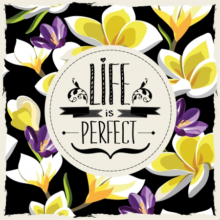 floral: Floral poster Typography illustration