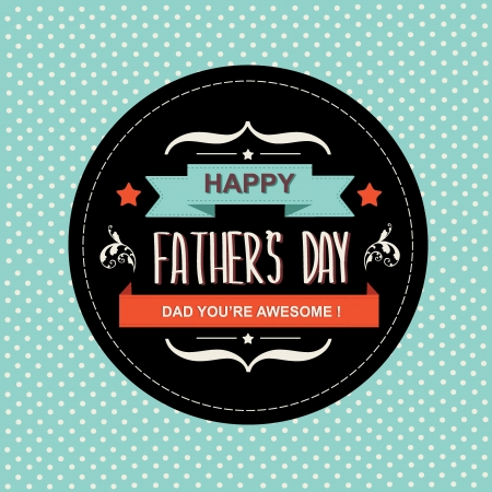 fathers  day: Poster Happy father s day Typography Vector illustration  Illustration
