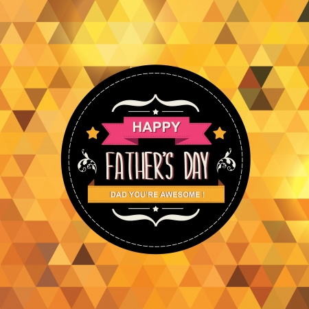 Poster Happy father s day Typography Vector illustration  Illustration