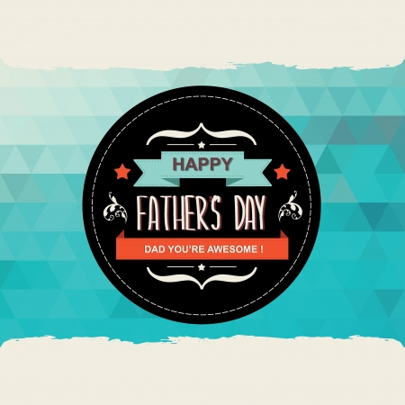 Poster Happy father s day Typography Vector illustration  Ilustracja