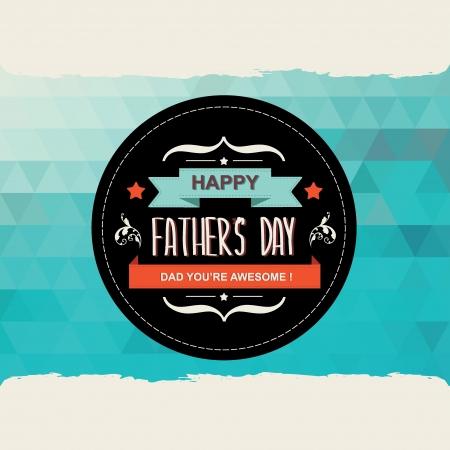 retro font: Poster Padre felice s day Tipografia Illustrazione vettoriale