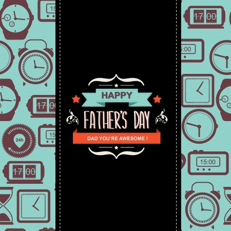 father s day: Poster Happy father s day Typography illustration  Illustration